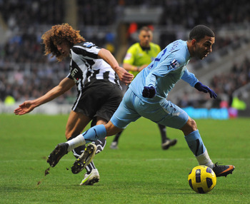 Aaron Lennon in action at Newcastle away, a game in which the winger salvaged a draw with a late equaliser.