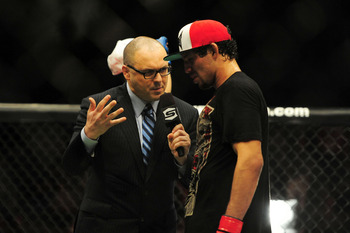 After his most recent bout, Gilbert Melendez was obviously not excited about staying with Strikeforce.