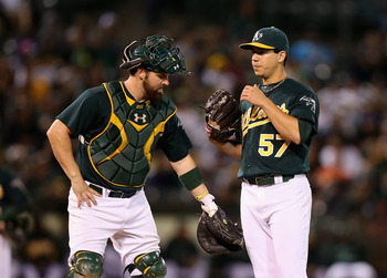 Derek Norris (left) and Tommy Milone were acquired together