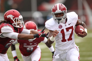Drake was the Tide's leading rusher in the win over Arkansas.