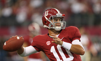 McCarron has thrown seven touchdown passes and zero picks thus far in 2012.