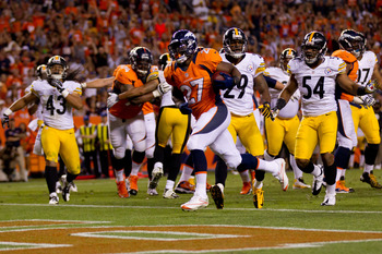 Knowshon Moreno, 7-yard TD run vs. Pittsburgh
