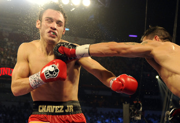 Julio Cesar Chavez Jr. getting rocked by Sergio Martinez.