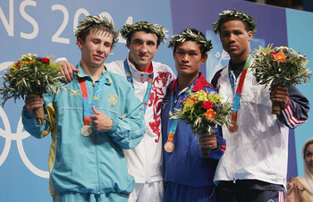 Golovkin on left, won silver medal at 04 Athens Olympics