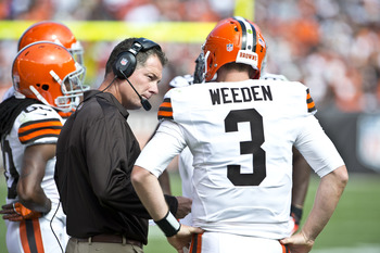 Pat Shurmur and Brandon Weeden were definitely on the same page against the Bengals.