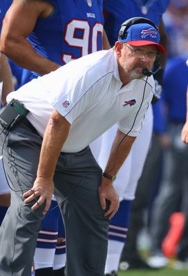 Chan Gailey had to be encouraged with the play of the Bills.