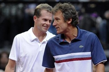 Stefan Edberg and Mats Wilander: Photo by CTK