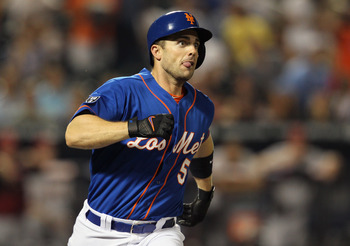 NEW YORK, NY - AUGUST 24: David Wright #5 of the New York Mets connects on a fourth-inning homerun against the Houston Astros at CitiField on August 24, 2012 in the Flushing neighborhood of the Queens borough of New York City. David Wright's homerun was t