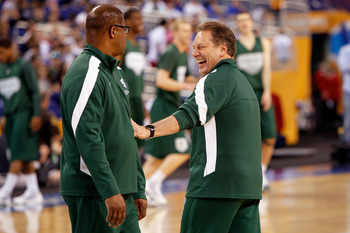 Garland (left) with Tom Izzo