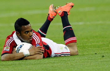 Robinho is one of many injuries Milan have suffered of late