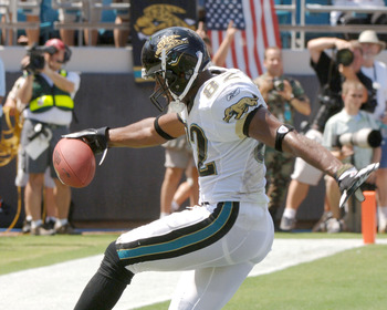 Jacksonville Jaguars wide receiver Jimmy Smith, 9/11/2005, against the Seattle Seahawks