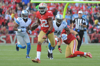 Mario Manningham had three receptions, but one drop