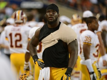 Losing Orakpo and Adam Carriker during Sunday's loss is crippling to the Redskins defense. (washingtontimes.com)