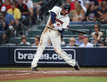 Freddie Freeman leads the Braves with 87 RBI.