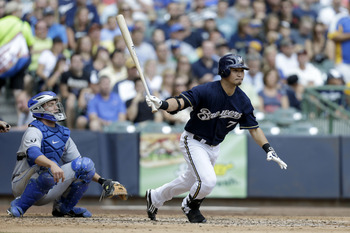 Norichika Aoki is taking off during the Milwaukee Brewers' late run at a wild card spot.