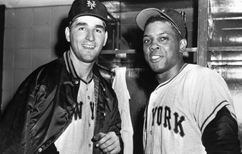 Johnny Antonelli and Willie Mays (Photo: RIT.Edu)