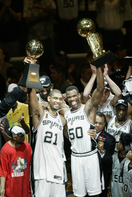"Robinson and Tim Duncan formed the deadly ""Twin Towers"" duo."