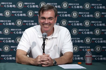 Billy Beane's shrewed maneuvering this past offseason have put the A's in contention.