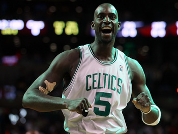 Garnett had much to smile about after his performance in Game 6