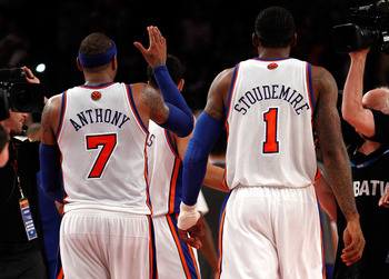 New York Knicks' superstars Carmelo Anthony and Amar'e Stoudemire.