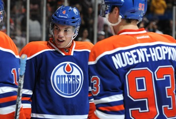 Taylor Hall, Ryan Nugent-Hopkins, Jordan Eberle and Justin Schultz will all head to Oklahoma City come October.