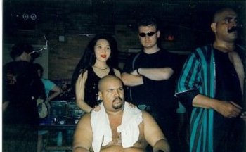 "Miss Asia, Bill ""Black Sultan"" Hawkins, The Author, & The Iron Sheik"