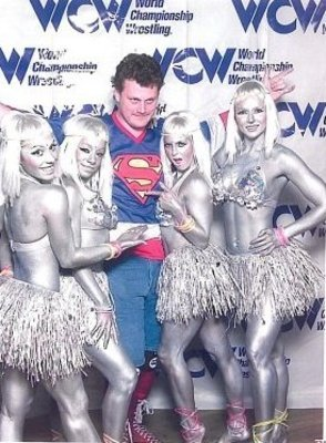 The Red Falcon and the Nitro Girls. Is that Stacey Kiebler on the right?