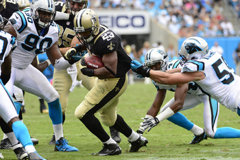 Luke Kuechly (59) has been caught out of position several times in the first two games of the season.