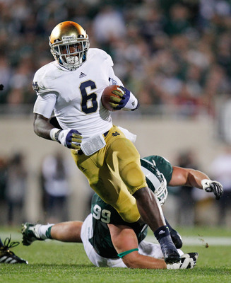Notre Dame running back Theo Riddick is a threat each time he touches the ball