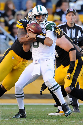 Mark Sanchez and the New York Jets offense reverted to their preseason form against a desperate Steelers D.