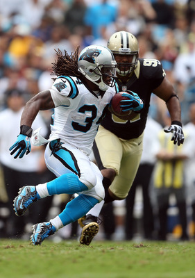 DeAngelo Williams saw Carolina's running game rise robustly from 11 carries in Week 1 (for a franchise-low-tying 10 yards) to 219 on 32 attempts in Week 2.