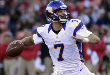 Through two games, Vikings QB Christian Ponder has thrown for 515 yards and two touchdowns this season, with a completion rate of 76 percent.