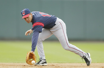 7 Mar 2002: Omar Vizquel #13 of the Cleveland Indians fields the ball against the Atlanta Braves during the spring training game at the Wide World of Sports Complex in Lake Buena Vista, Florida. DIGITAL IMAGE. Mandatory Credit: Andy Lyons/Getty Images