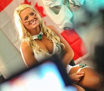 Photo courtesy of Lingerie Football League Canada facebook page