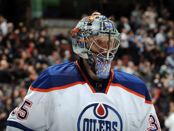 The Oilers paid big money for an old goalie and have yet to get a full season out of Khabibulin.