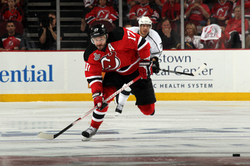 NEWARK, NJ - MAY 30:  Ilya Kovalchuk #17 of the New Jersey Devils in action against the Los Angeles Kings during Game One of the 2012 NHL Stanley Cup Final at the Prudential Center on May 30, 2012 in Newark, New Jersey.  (Photo by Bruce Bennett/Getty Imag