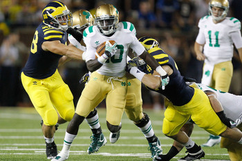 Notre Dame and Michigan will clash this weekend. Gregory Shamus/Getty Images North America