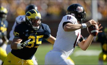 Bolden has emerged as a capable linebacker for the Wolverines. Andy Morrison/The Blade