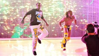 R-Truth and Kofi Kingston.