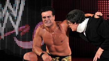 Despite a valiant effort, Alberto Del Rio still comes up short of winning the gold.