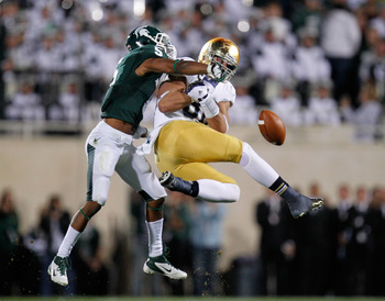 Johnny Adams is one of three Michigan State players to record an interception this year.