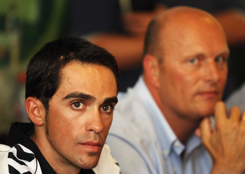 Double trouble: Contador and Riis.