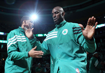 Garnett is the man in the middle for the Celts.