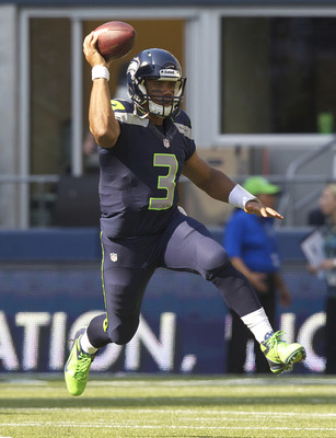 Is he running or throwing? We will see what Russell Wilson does come Monday.