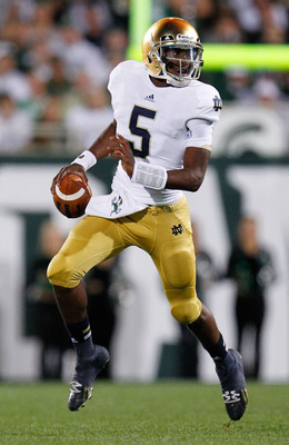 Everett Golson can scoot when he has to
