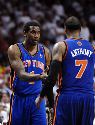 Amar'e Stoudemire struggling to accept the fact that this duo won't work.