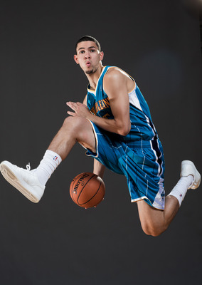 This is a rare sight for Austin Rivers.