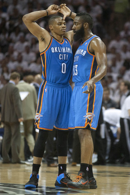 Russell Westbrook and James Harden don't provide enough defense.