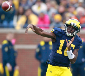 Denard Robinson has to burn the Notre Dame secondary when given the chance.