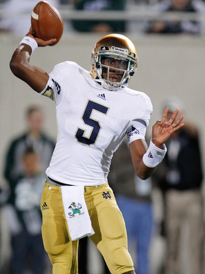 Everett Golson is a great athlete, but still struggles with his consistency in the passing game.